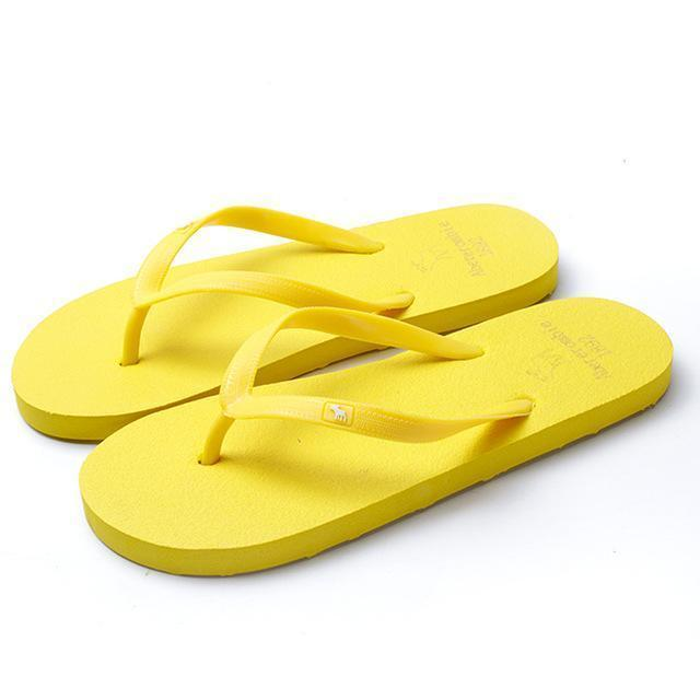 Boho Beach Hut Women's Footwear Yellow / 5 Beach Flip Flops 8 Colors