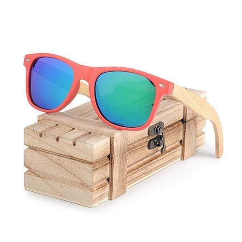 Boho Beach Hut Women's Sunglasses Blue BOBO BIRD Wooden Polarized Sunglasses
