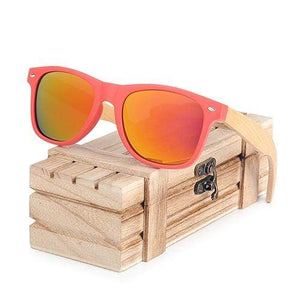 Boho Beach Hut Women's Sunglasses Yellow BOBO BIRD Wooden Polarized Sunglasses