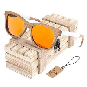 Boho Beach Hut Women's Sunglasses Yellow Box 1 BOBO BIRD  Square Style Wooden Polarized Sunglasses