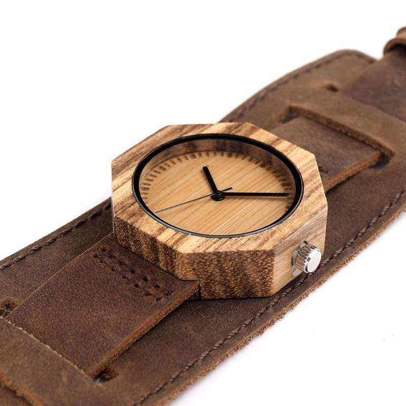 BOBO BIRD Watch Zebra Wood Quartz Watch