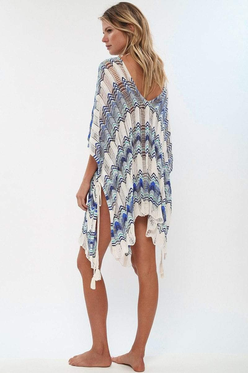 Fitshinling Holiday Store Dresses Blue / One Size Lace Up Oversized Bikini Cover Up