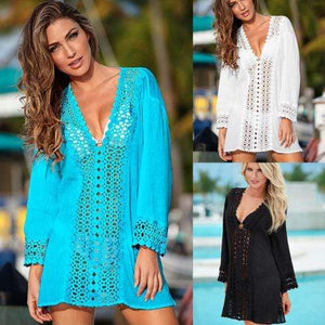 hirigin swimwear Store Cover-up Bohemian Oversized Beach Cover Up