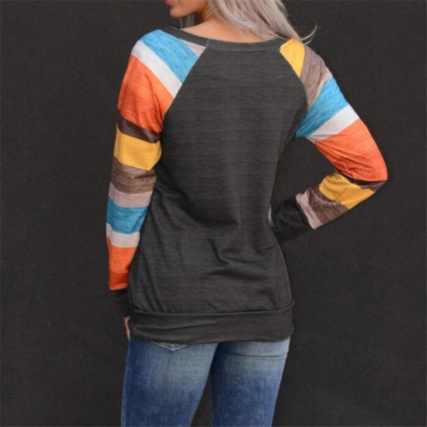 Lusofie Official Store Hoodies & Sweatshirts Casual Striped Long Sleeve Tee