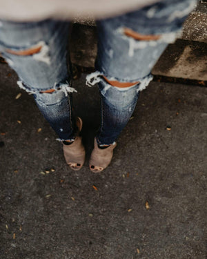 Single Taurus Store Jeans Stretch Bleached Ripped Denim Jeans