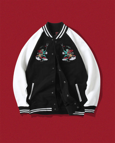 Frog Warriors Embroidery Jacket