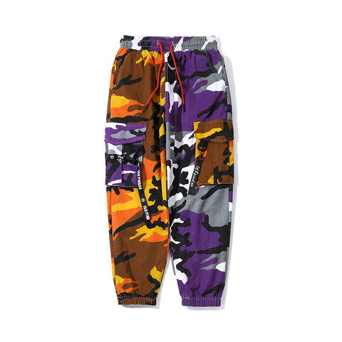 Pantalones de jogging de color doble Camo