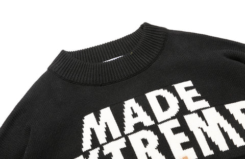 Extreme Teddy Bear Black Knit Sweater