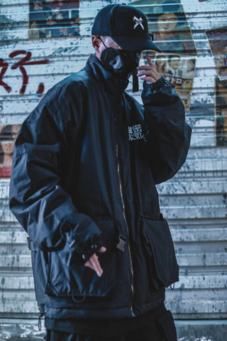 Black Neighborhood Winter Jacket