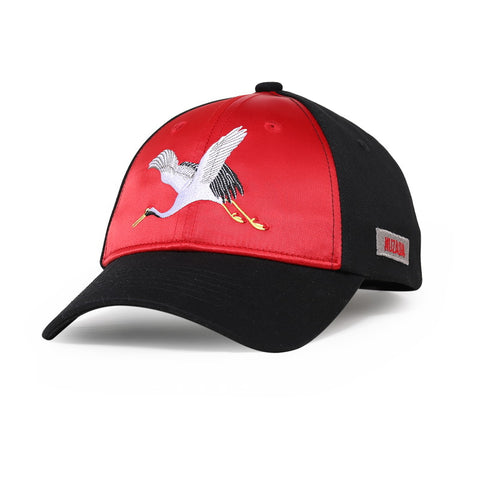 Red Flying Cranes Hat
