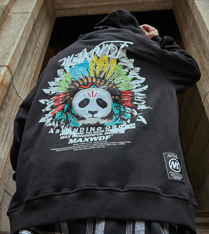 Sweat à capuche Panda Chief