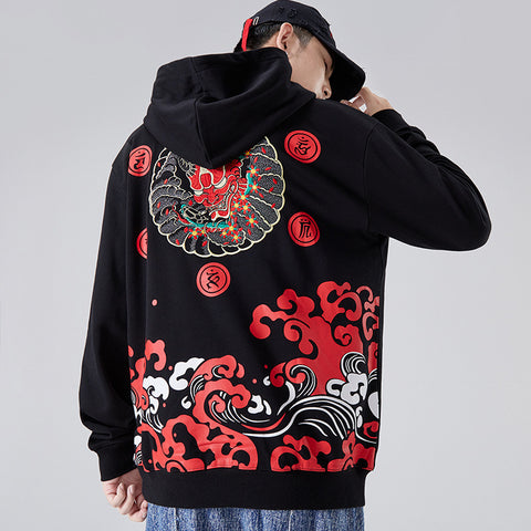 Devil Blood Embroidery Hoodie