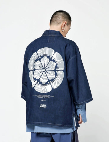 Blue Denim Radar Attack Samurai Shirt