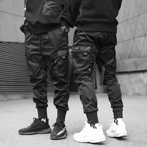 Joggers De Color Negro Mate