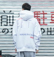 Spray Paint Kanji Retro Hoodie