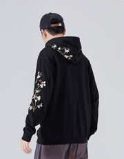 Flowers and Birds Embroidery Hoodie