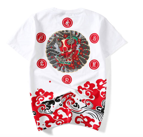Devils Kanji Blood Waves Tee
