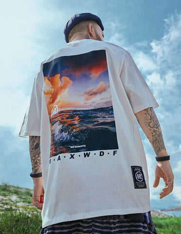 Oceanside Sunset Art Tee