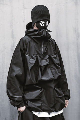 Pent Pockets Tech Windbreaker Jacket