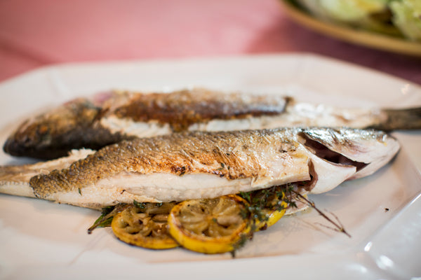 Grilled Lemon Bronzino