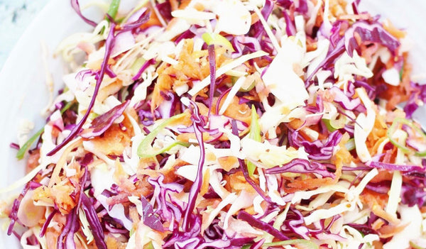 Crispy Coleslaw on the Grill