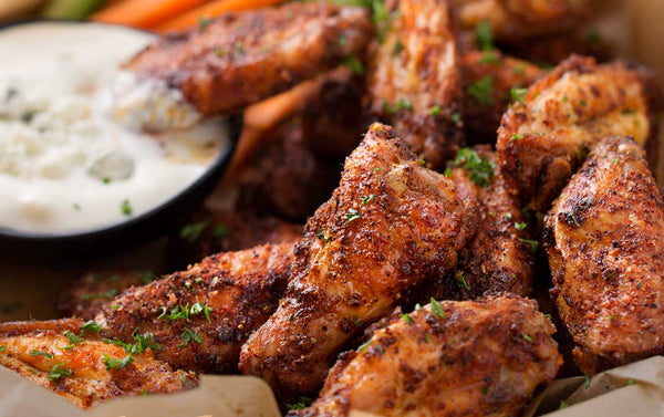 Epic Dry Rub Chicken Wings With Creamy Gorgonzola Dip