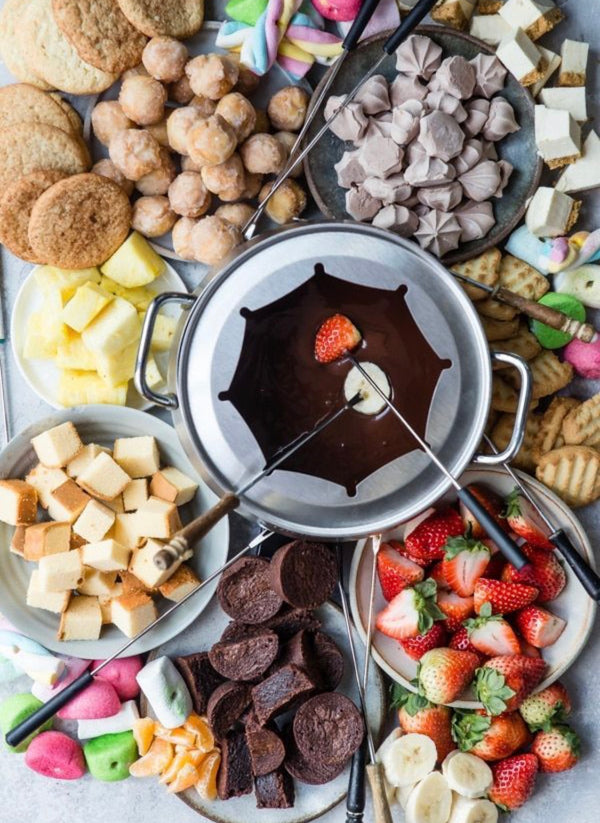 Easy Chocolate Fondue on your Grill