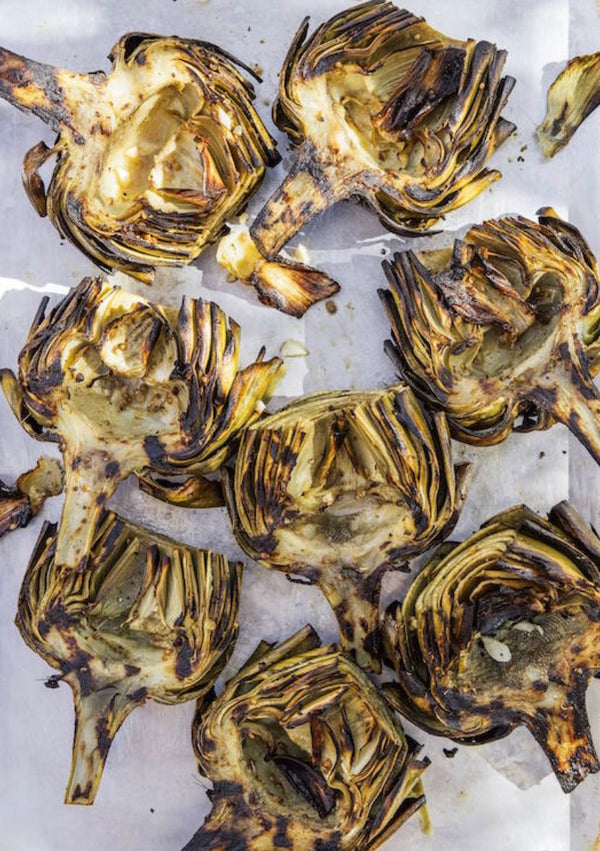 Grilled Artichokes With Lemon Vinaigrette on the Arteflame Grill