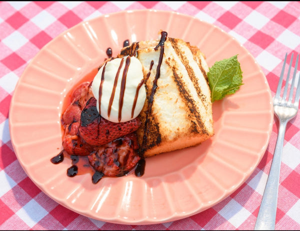 Grilled Angel Food Strawberry Shortcake