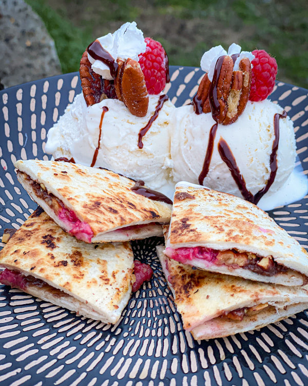 Raspberry Pecan Chocolate Quesadillas