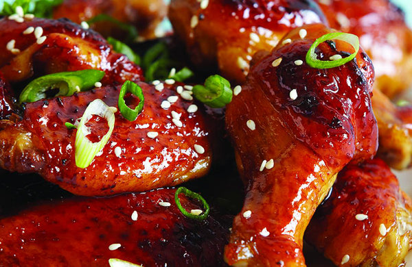 Korean BBQ Chicken Wings With Angry Sauce