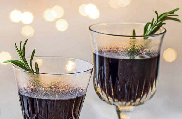Mulled Port with Rosemary from the Grill