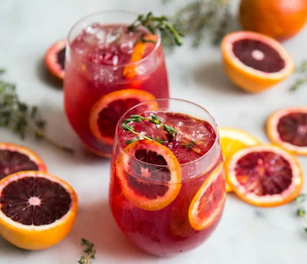 Spiked Blood Orange Amaretto Sour