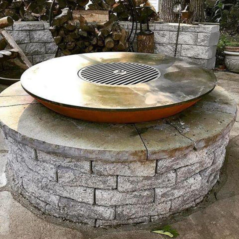"Arteflame Classic 40"" - Fire Bowl with Cooktop - Arteflame Outdoor Charcoal Grill Griddle Combination."