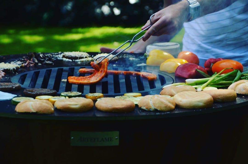 "Arteflame One Series 40"" Grill - Arteflame Outdoor Charcoal Grill Griddle Combination."