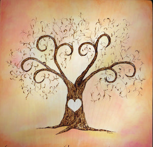 Finger Print Tree- Heart