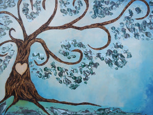 Simply Sweet Family Tree- Turquoise Breeze