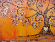 Simply Sweet Family Tree- Orange Sunset