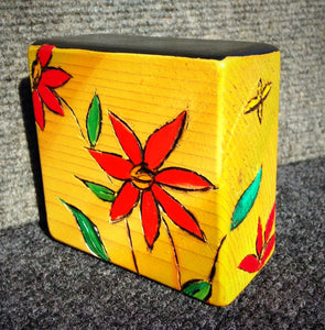 Orange Daisy Block