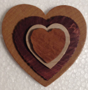 Prepared Wooden Hearts