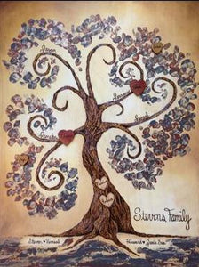 Whimsical Family Tree- Made to Order