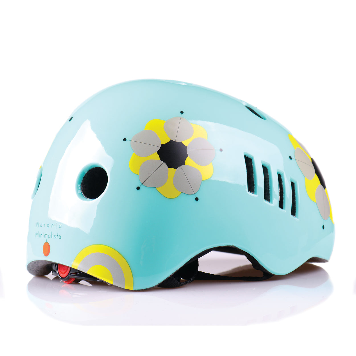 Kids bike helmet with boho chic design right view