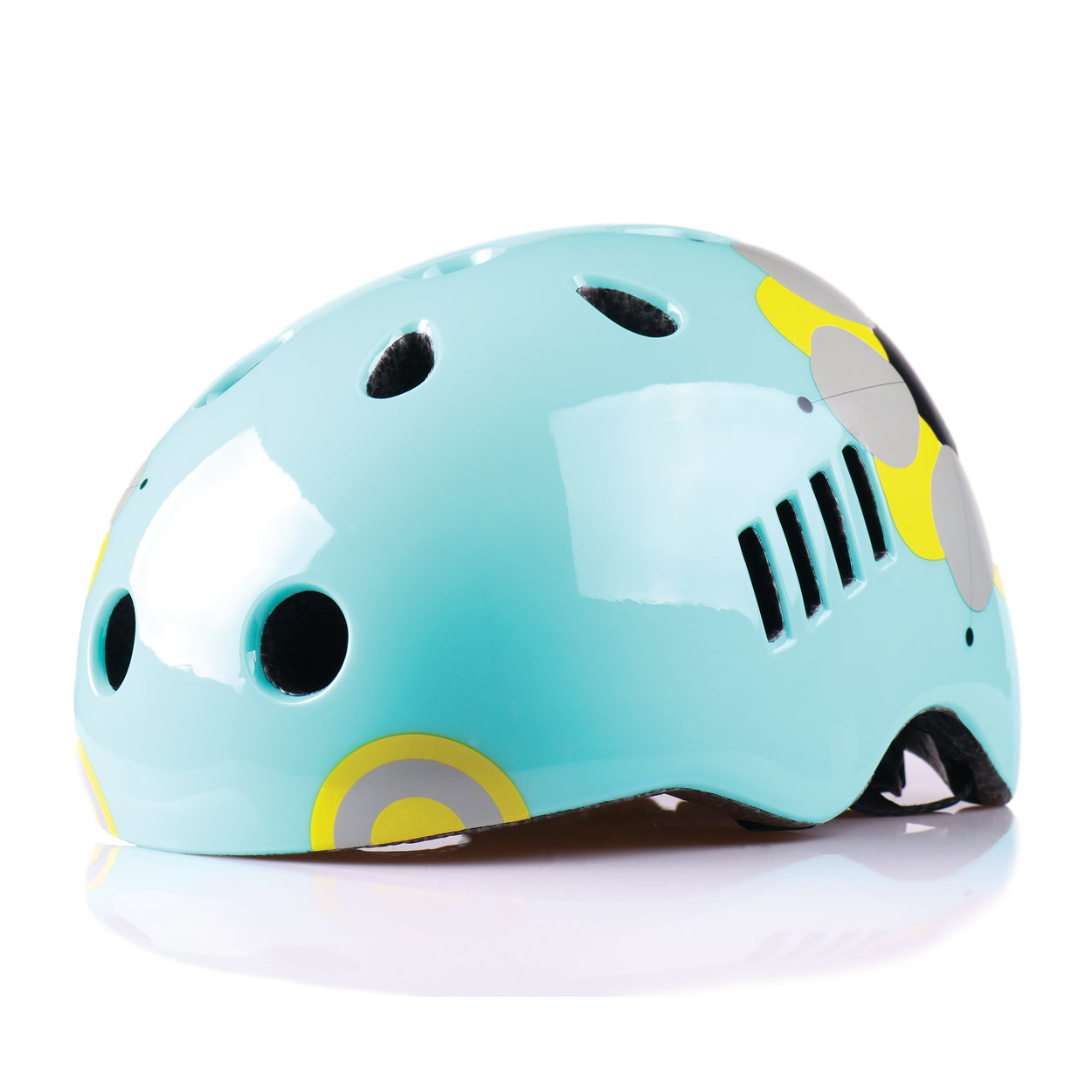 Kids bike helmet with boho chic design front view