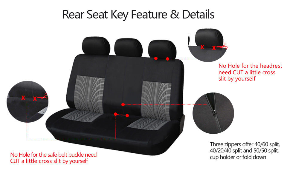 Luxy Tire Thread Patterns Car Seat Protector
