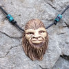 Bigfoot Face Necklace