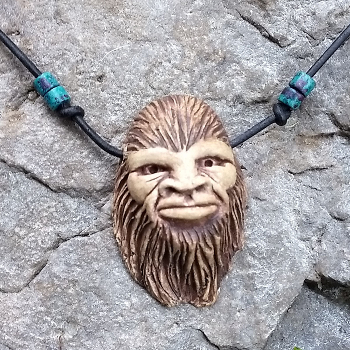 woodcarving necklace pin pinterest luck carving good wood spirit