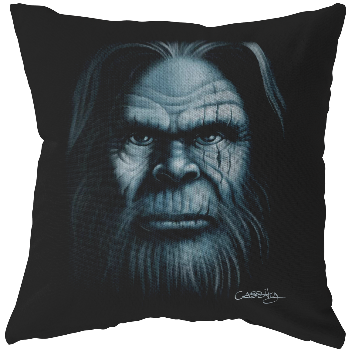 Bigfoot Face Pillow