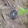 Sasquatch and Moon Necklace