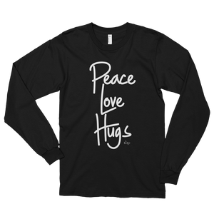 """Peace Love Hugs"" Fitted Unisex Tee **more colors"