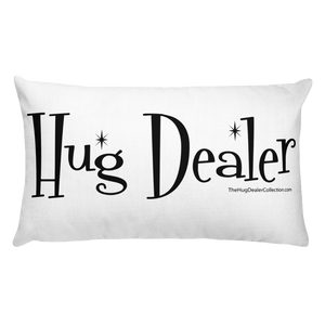 "Fluffy Classic ""Hug Dealer"" 2 Sided Pillow"